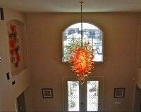 Mão soprando lustre de vidro para sala de estudo lustre de vidro soprado arte moderna-iluminação de vidro
