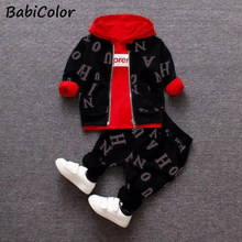 Baby boys clothes sets spring autumn newborn fashion cotton coats+tops+pants 3pcs tracksuits for bebe boys toddler casual sets