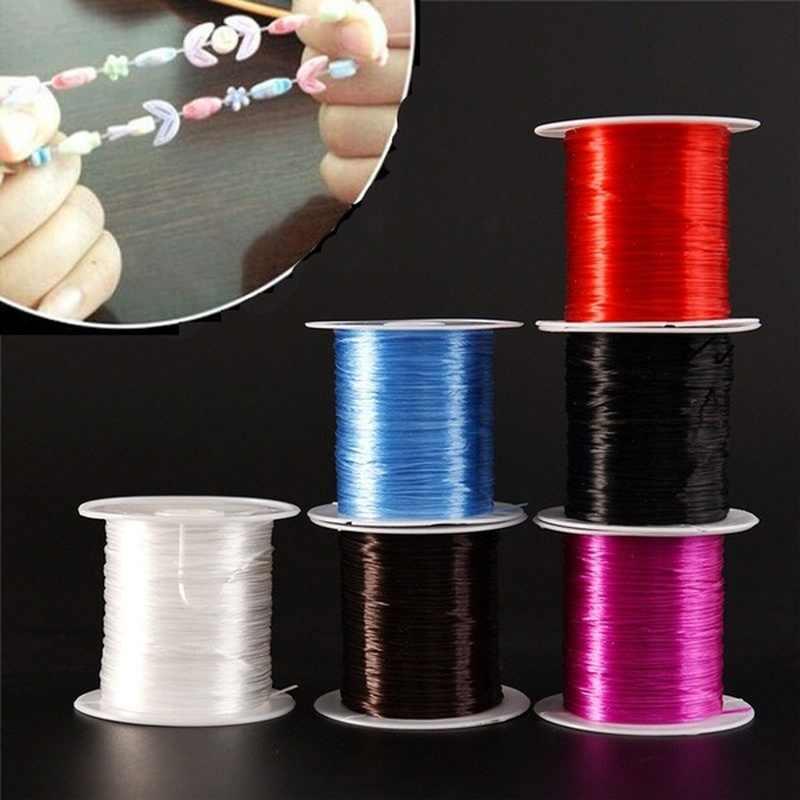 Fio elástico para bijuteria de 393 pol./rolo, fio para miçangas e cristais, elástico forte de 1mm para pulseiras, corda de fio elástico para fazer bijuterias diy linha de cordas