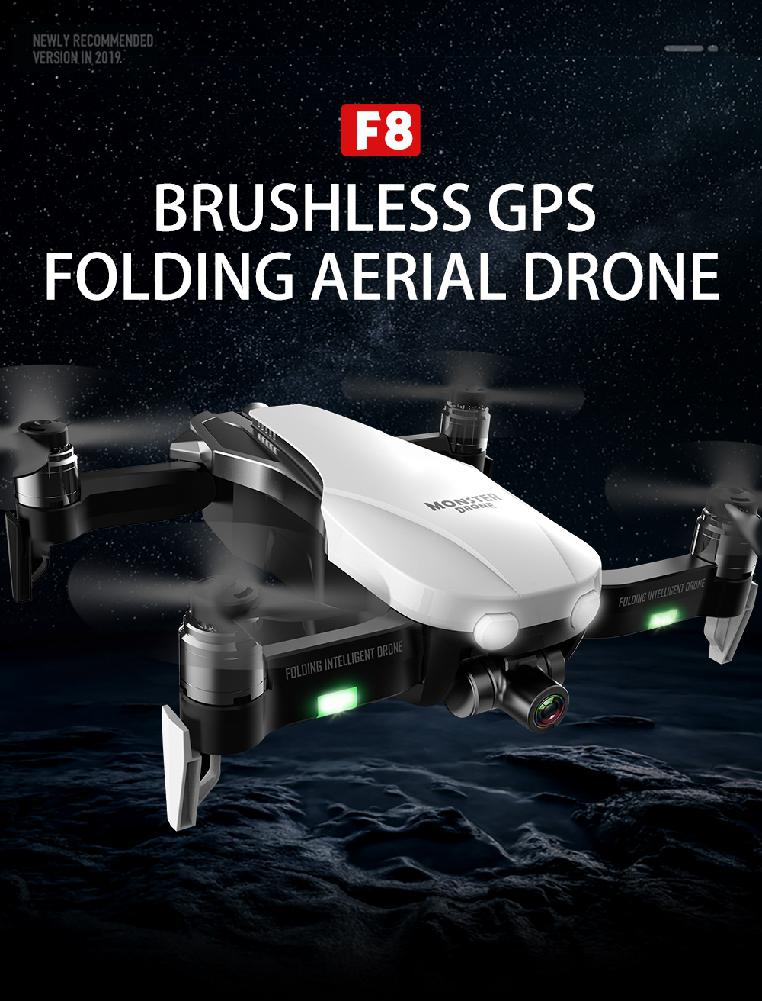 F8 Profissional FPV Vision 4K HD Camera Drone with Two-Axis Anti-Shake and GPS 14