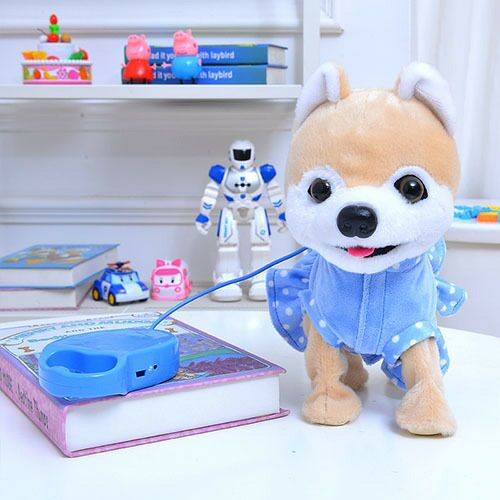 Robot Dog Singing Dancing Walking Husky Musical Electronic Pet Puppy Leash Teddy Music Plush Dog For Children Birthday Gifts
