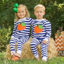 купить Newborn Baby Boy Girl Romper  Halloween Romper Pumpkin Print Jumpsuit Long Sleeve Cotton Clothes 9.19 дешево