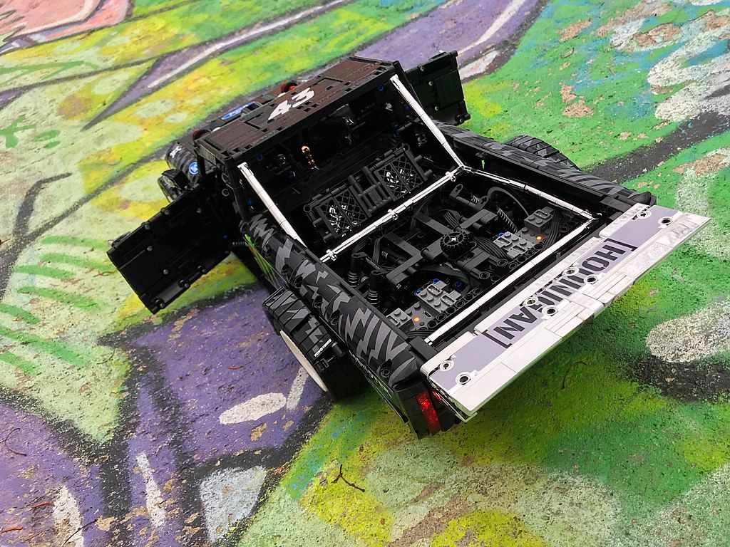 Teknik Series Mechanical Mobil Balap Moc Off-Road Pickup F-150 Diarungi Mustang Hoonicorn Kit Batu Bata Model Blok Bangunan Mainan