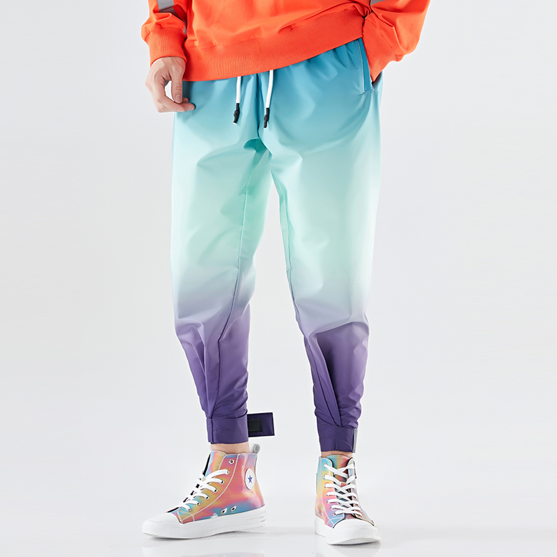 2019 Fashion Harem Pants Men Gradient Trend Hip Hop Mens Joggers Pant Plus Size Regular Fit Drawstring Streetwear Trousers Male