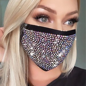 New Crystal Masquerade Face Mask for Female Vintage Party Accessories Mouth Mask Popular Party Nightclub Jewelry Gift
