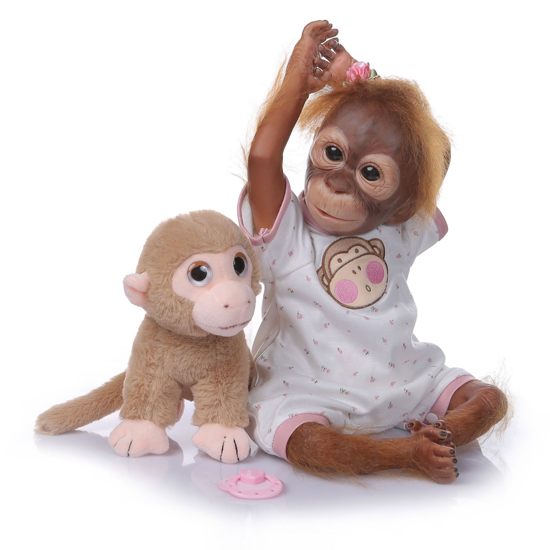 Children Creative Gift Cute Monkey Accompany Toy Realistic Monkey Doll