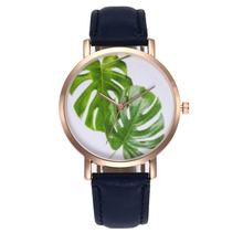 Gold Shell Tropical Leaf Quartz Watch Strap Dress Wristband Trendy Women Cheap Movement Valentine Teenager Young Girl Lover Gift(China)