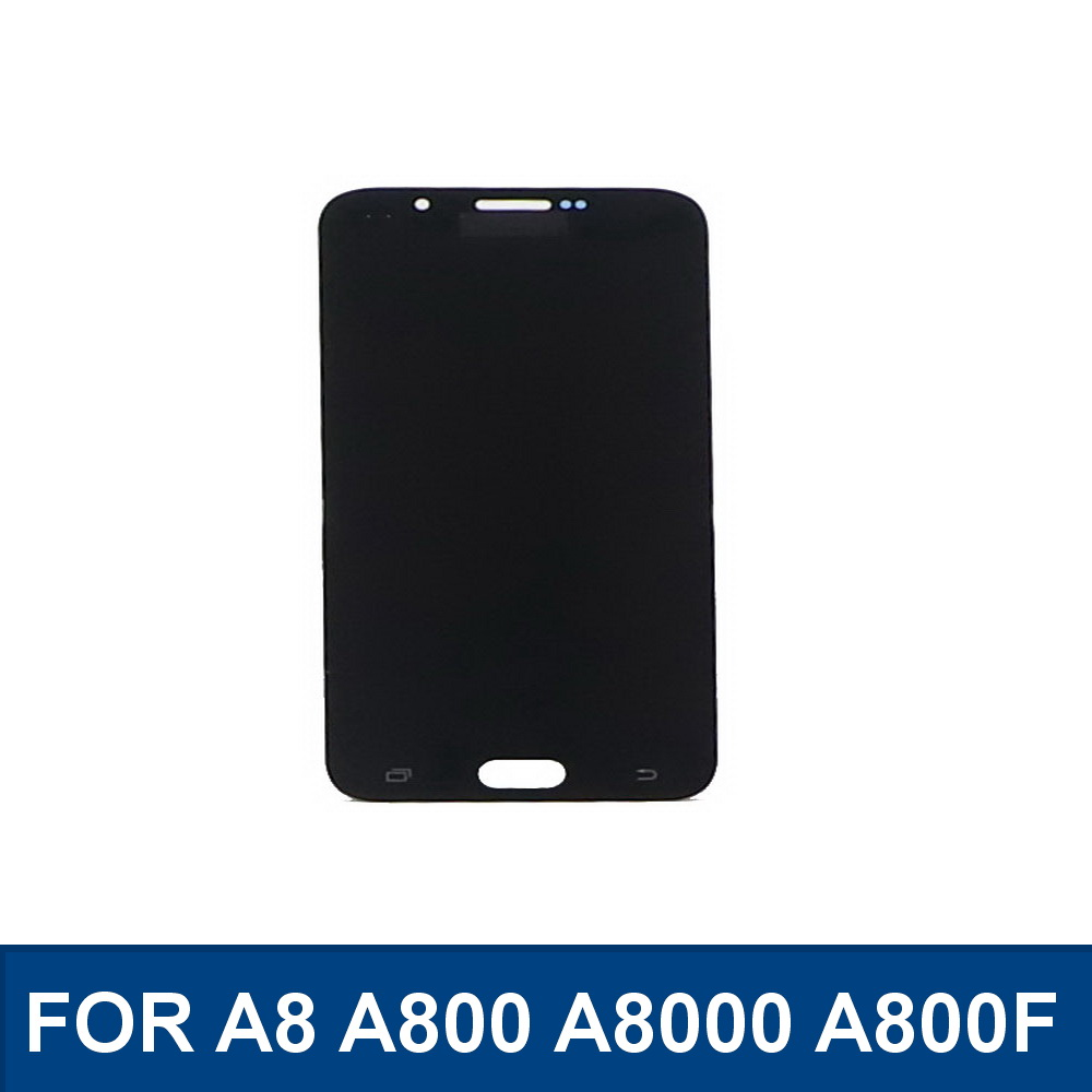 100%Tested For Samsung Galaxy A8 A800 <font><b>A8000</b></font> A800F <font><b>LCD</b></font> touch screen digitizer component replacement With brightness adjustment image
