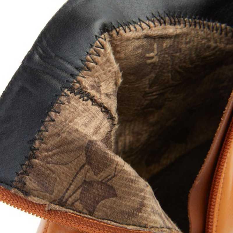 REAVE kedi kadın kış yarım çizmeler sivri burun garip topuk yan fermuar büyük boy 30-49 sarı rahat ofis kariyer a2799