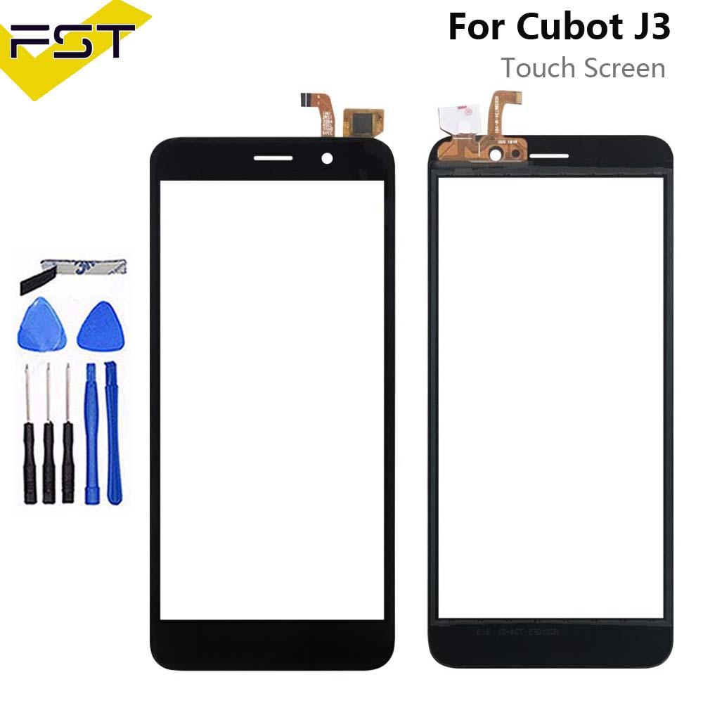 5.0inch For Cubot J3 Touch Panel Touch Screen Digitizer Replacement For Cubot J3 Glass Sensor With Tools+Adhesive