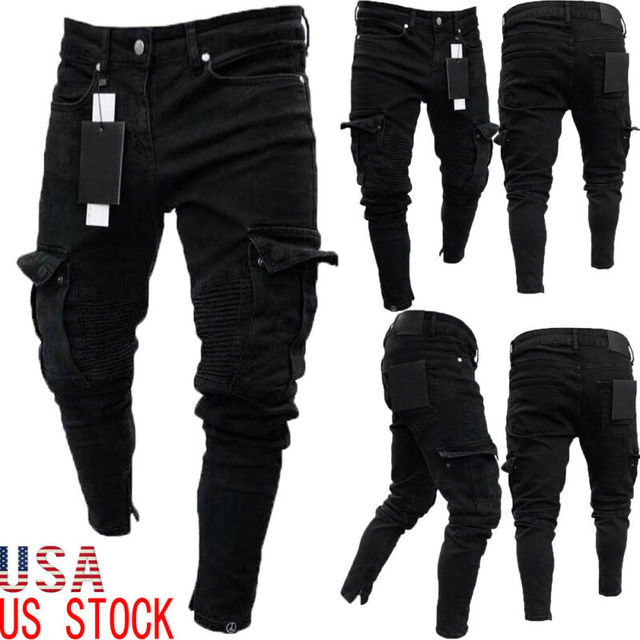 Long Pencil Pants Ripped Jeans Slim 2