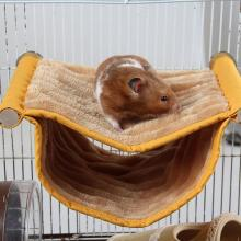 Pet Hamster Hammock Two Layers Hanging Cage Bed Toys Soft Plush Fleece House Nest for Guinea Pig Rabbit Toys Cage Swing 1pc hamster hanging house hammock cage sleeping nest pet bed rat hamster toys cage swing pet banana design small animals