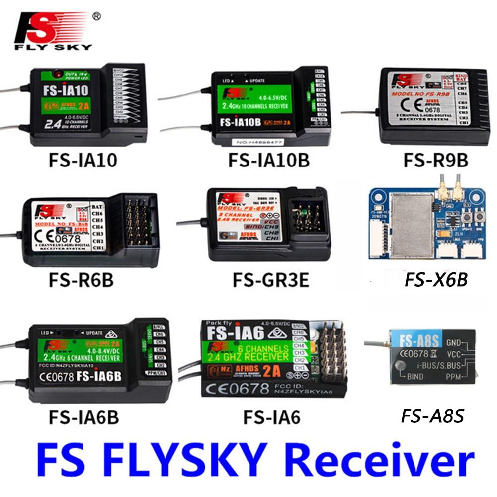 FlySky FS-R6B  FS-GR3E FS-IA10B  IA6B X6B FS-A8S Receiver Receptor Para I6 I10 CT6B T6 TH9x Transmisor De Control Remoto Partes