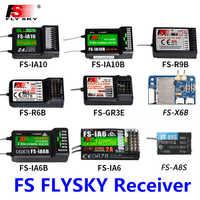 FlySky FS-R6B FS-GR3E FS-IA10B IA6B X6B FS-A8S receptor para i6 i10 CT6B T6 TH9x transmisor de Control remoto partes