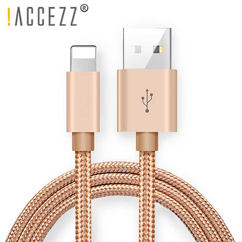 !ACCEZZ Nylon USB Fast Charging Cable For Apple iPhone XR XS MAX X 8 7 6S 6 Plus For ipad mini Phone Lighting Charge Data Cables|Mobile Phone Cables|   - AliExpress