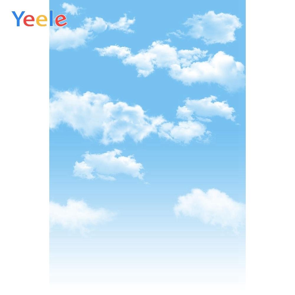 Виниловый фон для фотосъемки новорожденных с изображением облаков и неба