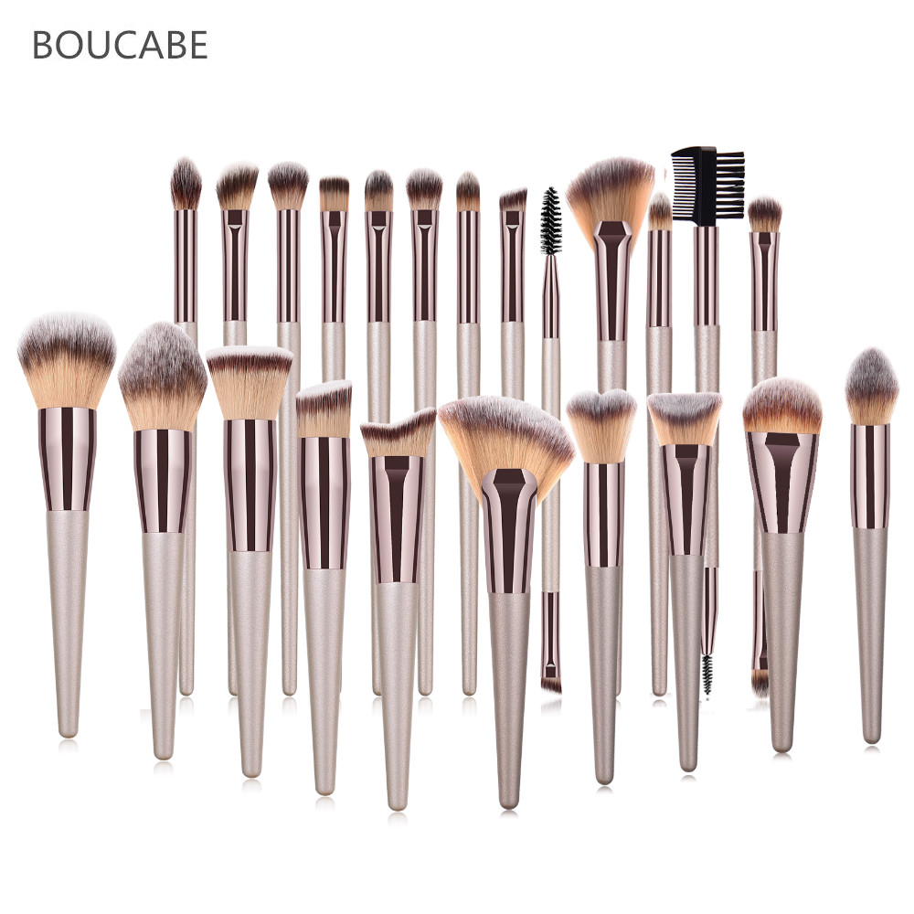 BOUCABE Makeup Brushes Tool Set 5-23pcs Cosmetic Powder Eye Shadow Foundation Blush Blending Beauty Make Up Brush Maquiagem
