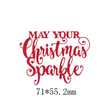 May You Christmas Sparkle Metal Cutting Dies DIY Scrapbooking Embossing Paper Cards Making Crafts Supplies New 2019 Die Cut