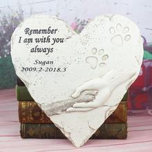 Marker Stones Pet-Memorial Personalized Grave Garden Dog Cat Pet-Loss-Gifts Backyard
