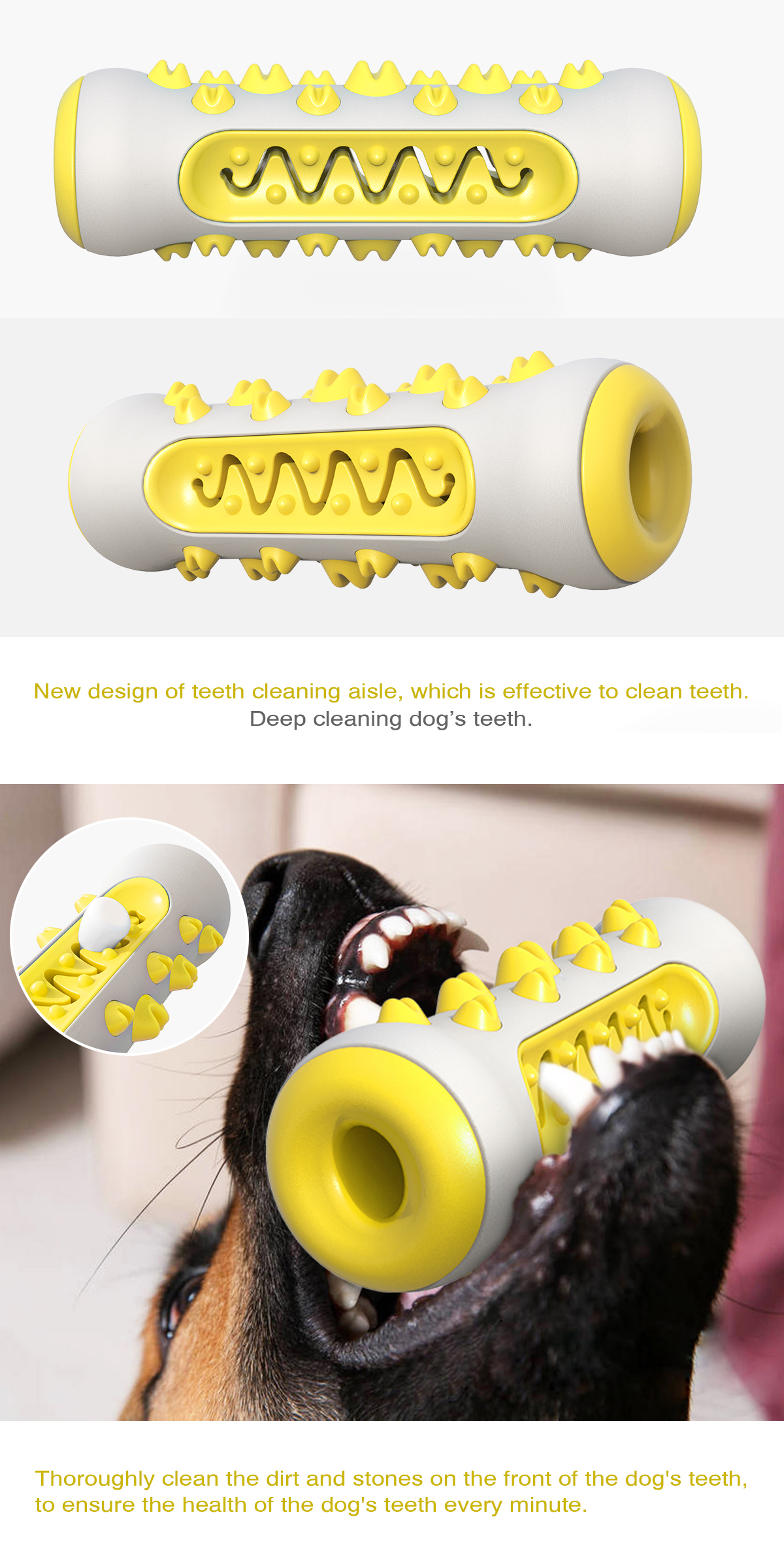 Dog Molar Toothbrush Toys Chew Cleaning Teeth Safe Elasticity Soft TPR Puppy Dental Care Pet Cleaning Toy Brushing Stick
