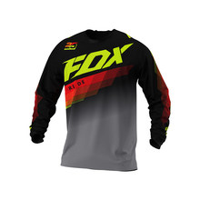 Mountain bike Long Sleeve T - shirt, mountain bike Resistance T - shirt, Cross - Country MX, mountain bike Clothing RIDE FOX MTB