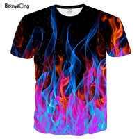 2019 neue T Shirt Männer Farbige Flamme t-shirts Männer Frauen T Shirt 3D Gedruckt Schwarz Tees Casual Top Anime Kurze hülse T-shirt Tops