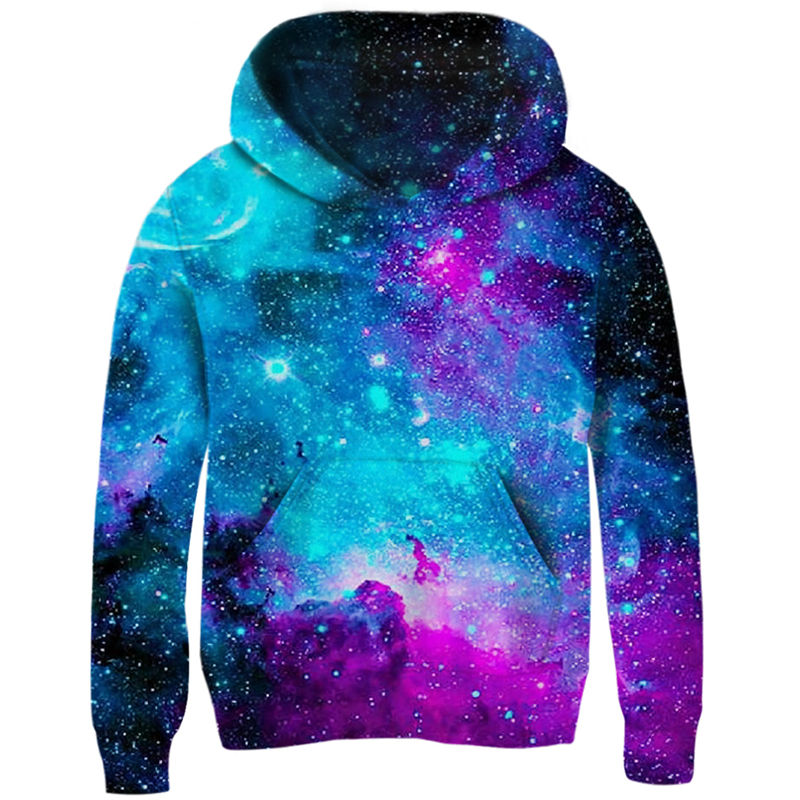 Space Galaxy Hoodies Girls Boys Outerwear 3d Brand Clothing Sweatshirt Hooded Autumn Pullover Tops 5 7 9 11 Year Kids Clothes-in Hoodies & Sweatshirts from Mother & Kids