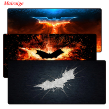 The Dark Knight Logo 900x400mm Notbook Computer Mousepad Large Lock Edge Gaming Mouse Pad Laptop Mat For CSGO LOL