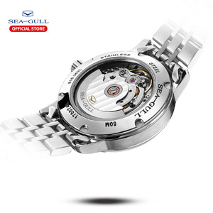 Image 4 - 2020 Seagull Mens and Womens Watches Business Automatic Mechanical Steel Band Calendar Waterproof Simple Fashion Watch 816.362