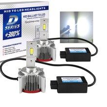 2 adet araba ışık D1S D4S D2S LED Canbus far D3S D1R D2R D3R D4R D5S D8S ampul 70W 32000LM kiti yerine HID dönüşüm lambaları