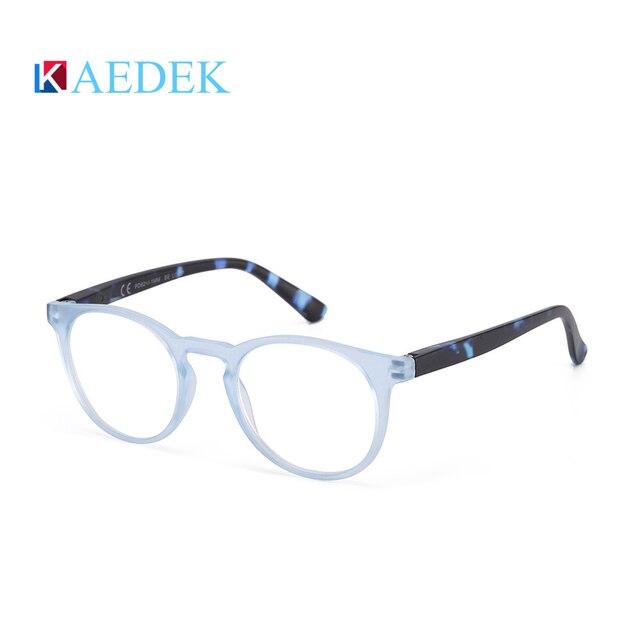 Фото kaedek дешевые очки для чтения женщин и мужчин черные круглые