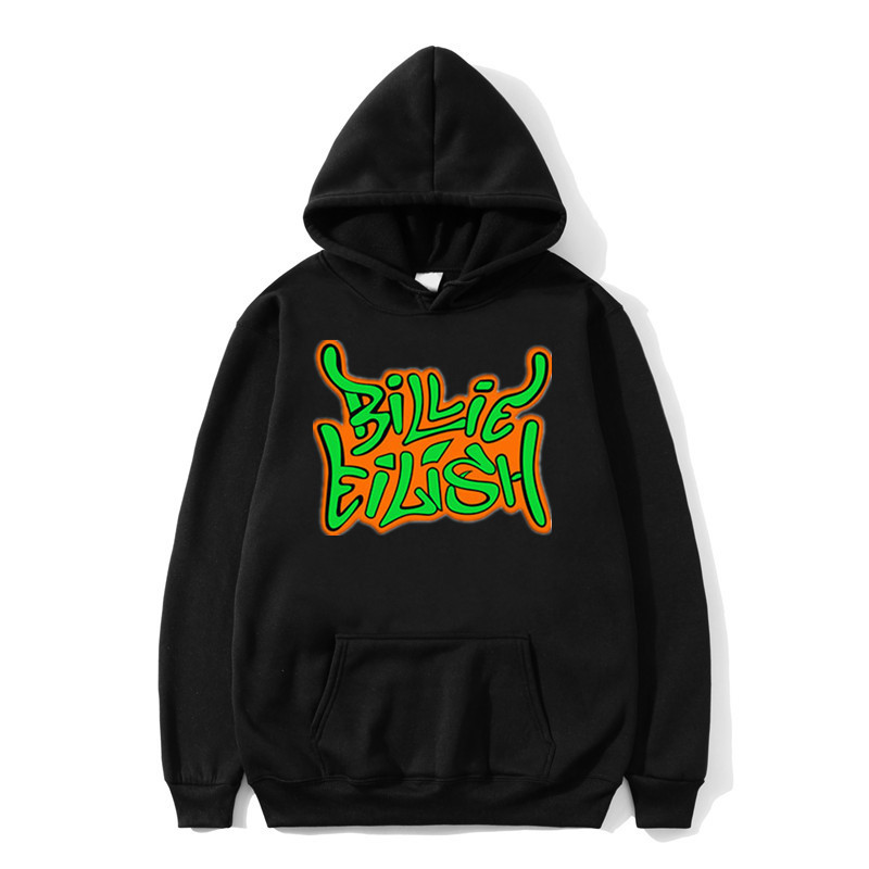 Hoodie Printed American Singer Billie Eilish Hoodie Men Women Harajuku Hip Hop Fleece Fashion Hoodie Clothes Sweatshirt