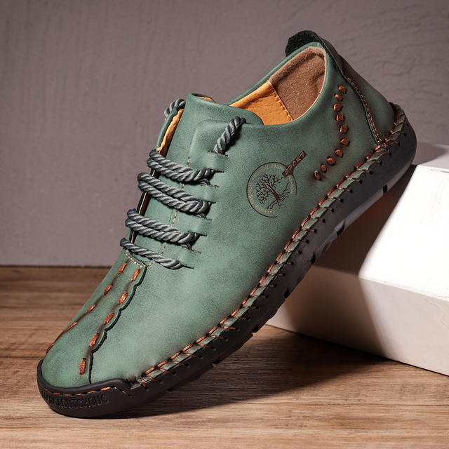 Leather Shoes Casual Sneakers Men Shoes Driving Comfortable Quality Leather Shoes Men Loafers Hot Sale Moccasins Tooling Shoe 5