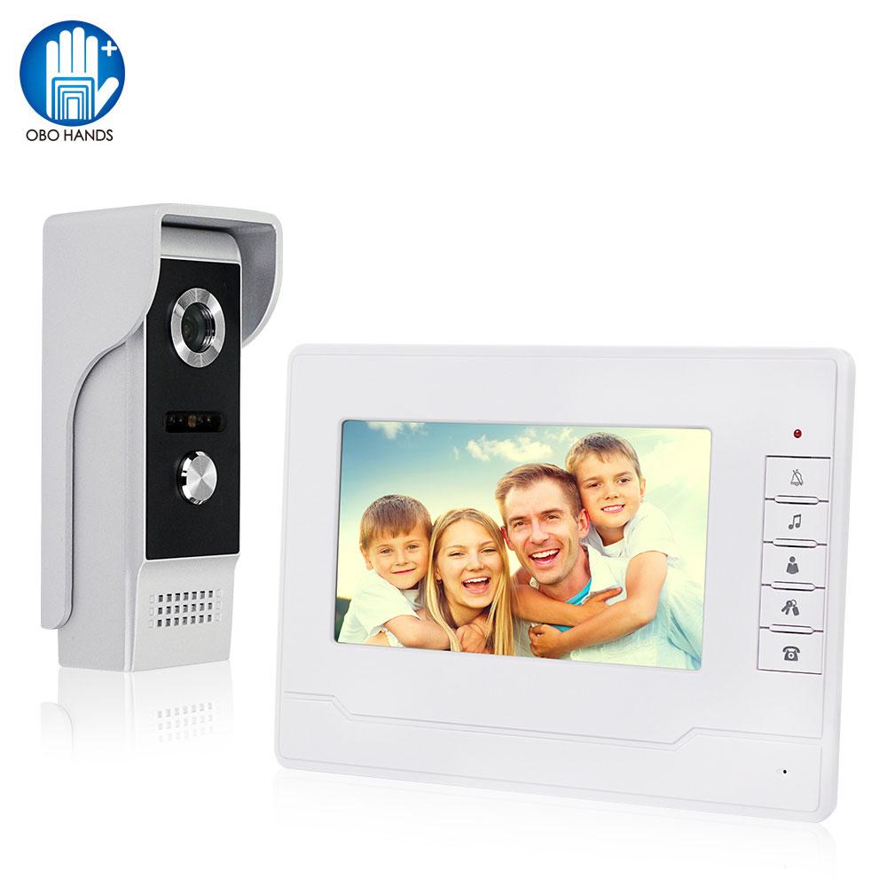 óBig SaleCamera Intercom-System Video-Doorbell Monitor-Screen Doorphone Wired Night-Vision 7inch-Colorë