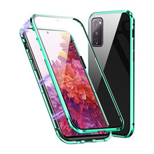 360 Full Cover Magnetic Phone Case for Samsung Galaxy S20 FE 5G Shockproof Phone Shell Sensitive Touch Front Back Cover