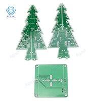 3D Christmas Tree DIY Kits 7 Color Light Flash LED Circuit Christmas Trees Xmas LED Colorful LED kit