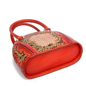 Image 4 - Johnature 럭셔리 핸드백 여성 가방 디자이너 2020 새로운 수제 가죽 조각 레트로 숙녀 핸드 가방 중국어 스타일 토트