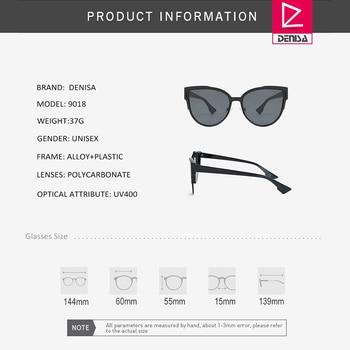 DENISA Vintage Cateye Sunglasses Women Luxury Brand Blue Mirror Sun Glasses Retro Black Shades For Women UV Protection G9018 6