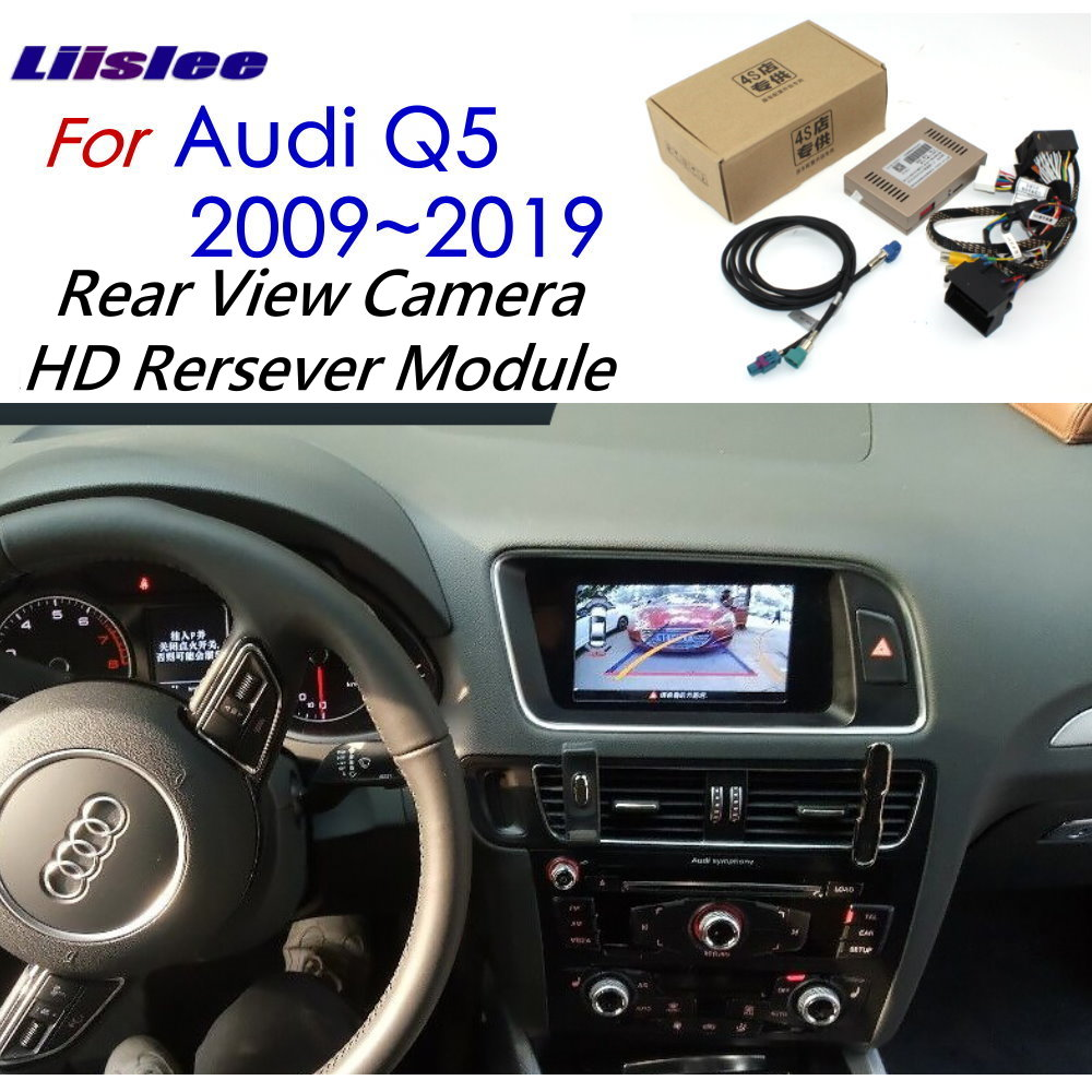 Front Rear View Camera For Audi Q5 2009~2019 Interface Adapter Original Screen Upgrade Display Backup Camera Decoder