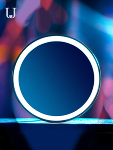 Image 2 - Youpin Hd Make Up Spiegel Met Led Kleur Blauw Licht Cosmetische Spiegel Mini Draagbare Touch Control Sensing Spiegel Voor Schoonheid Make Up