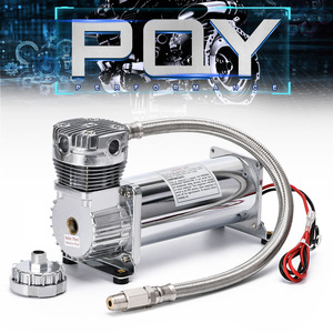 Image 3 - Universal DC 12V 480c MAXPOWER 200 PSI OUTLET 3/8 or 1/4 car Air Suspension Compressor/ Pump PQY VAC01