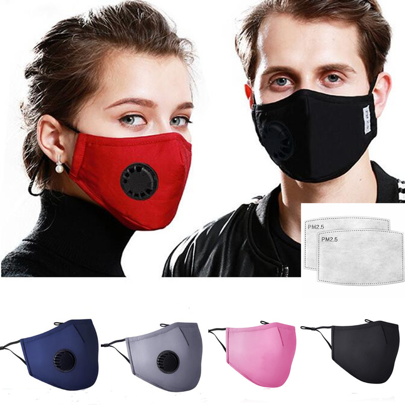 3pcs/lot Unisex Mouth Mask PM 2.5 Mask With 6pcs Filter Breath Anti-dust Mask Activated Carbon Filter Respirator Mouth-muffle