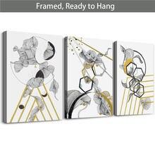 Современная Абстрактная живопись холст настенная 3 предмета