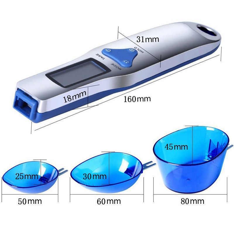 デジタルスケールスプーン液晶ディスプレイキッチンスプーンスケール 500 グラム/0.1 グラム電子計量スプーンスケール 3 着脱式計量スプーン