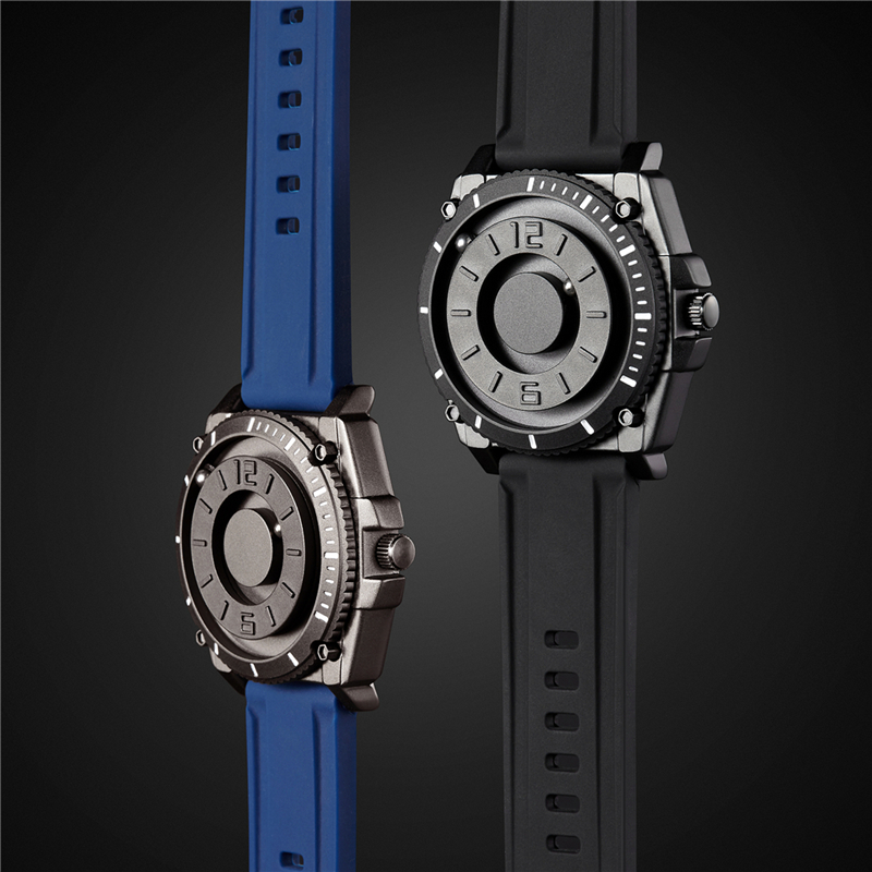 Eutour magnetic watch parallel time and space black technology men s couple wristwatch women s wristwatch Eutour magnetic watch parallel time and space black technology men's couple wristwatch women's wristwatch personality gel wristb