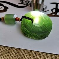 100% Genuine green jade pendant handmade Hollow carving dragon men jadeite jade necklaces pendants jade jewelry add certificate