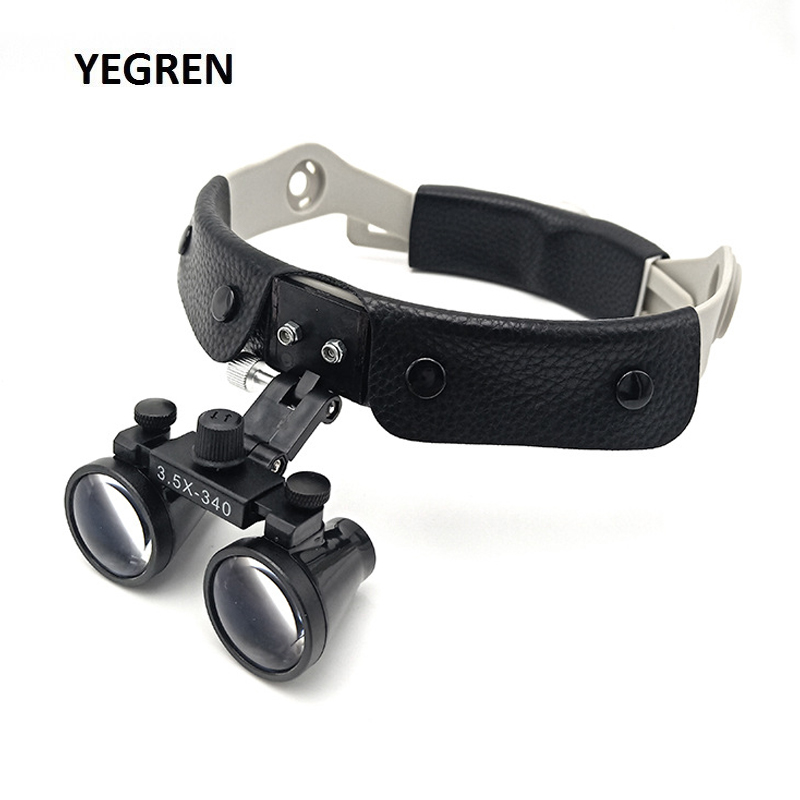 Hands Free Head Wearing Medical Surgery Loupes Soft Headband Magnifier 2.5X 3.5X Binocular Dental Loupe With Optical Lens