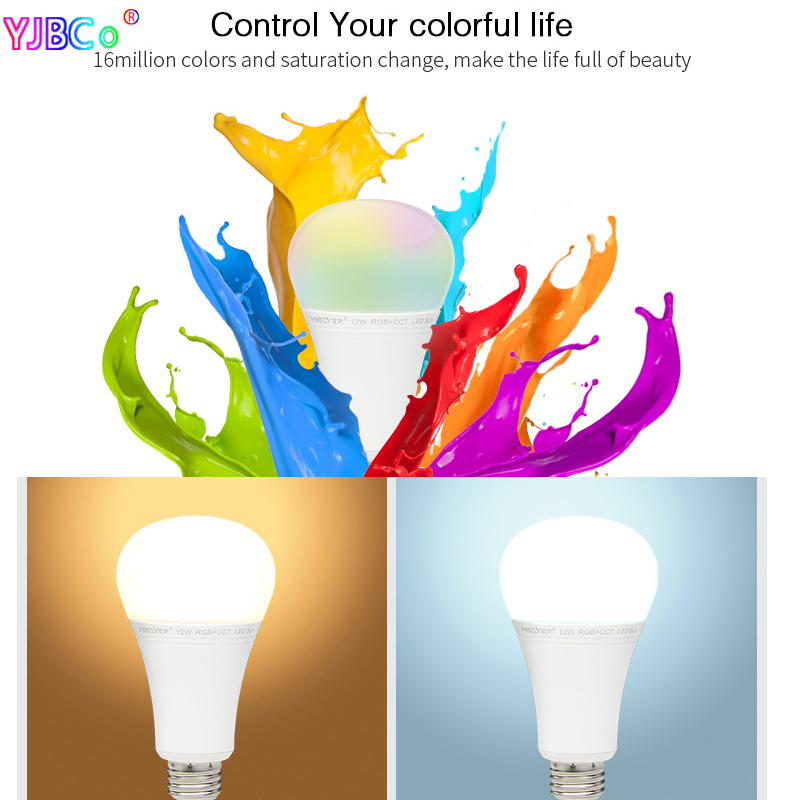 Miboxer FUT105 12W RGB+CCT LED Bulb E27 Indoor lamp light 2.4G remote smartphone APP Control for Bedroom living room AC100~240V Pakistan