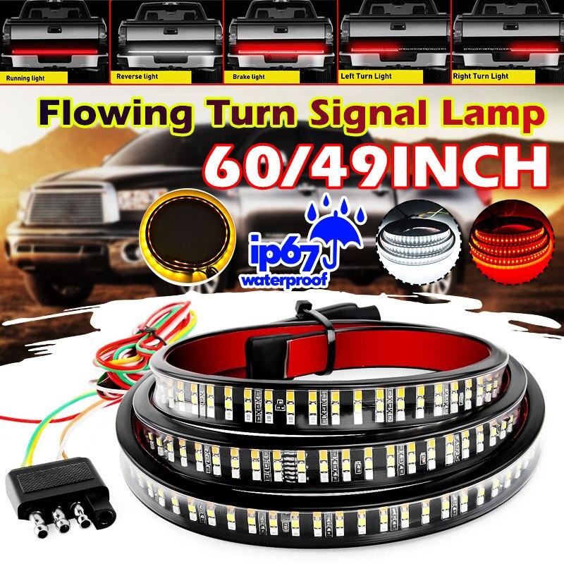 """49 """"/60"""" auto Flexible LED Streifen Licht Heckklappe Licht Bar Pickup Trailer Rücklicht Blinker Licht Reverse bremse Licht DC12V"""