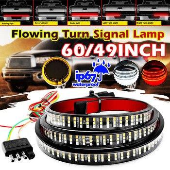 """Tira de luz LED Flexible de 49 """"/60"""" para coche, barra de luz trasera para camioneta, luz trasera para señal de giro, luz de freno y marcha atrás DC12V"""